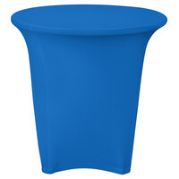 Marko EMB5026R30062 Embrace 30 inch Round Cadet Blue Spandex Table Cover