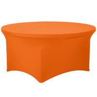 Snap Drape CC60R-MANGO Contour Cover 60 inch Round Mango Spandex Table Cover