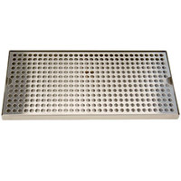 Micro Matic DP-820D-16 8 inch x 16 inch Stainless Steel Surface Mount Drip Tray with Drain