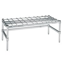 Metro HDP35S 18 inch x 48 inch x 16 1/4 inch Super Heavy Duty Stainless Steel Dunnage Rack with Wire Mat - 3000 lb. Capacity