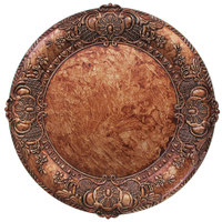 The Jay Companies 14 inch Round Copper Embossed Polypropylene Charger Plate