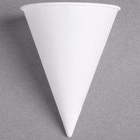 Dart Solo 4BR-2050 Bare Eco-Forward 4 oz. White Rolled Rim Paper Cone Cup with Poly Bag Packaging - 200 / Pack