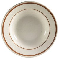 CAC AZ-3 10 oz. Brown Speckle Narrow Rim China Soup Bowl - 24/Case