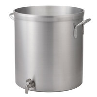 Vollrath 68701 Wear-Ever Classic Select 120 Qt. Heavy Duty Aluminum Stock Pot with Faucet