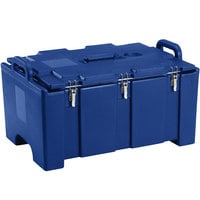 Cambro 100MPC186 Camcarrier Navy Blue Top loading Pan Carrier with Handles for 12 inch x 20 inch Food Pans