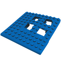 Cactus Mat Dri-Dek 2554-UC Blue 2 inch x 2 inch Interlocking Vinyl Drain Tile Corner Piece - 9/16 inch Thick