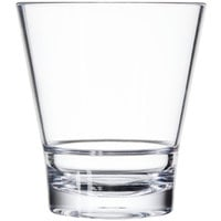 GET S-9-CL Revo 9 oz. Clear SAN Plastic Rocks Glass - 24 / Case