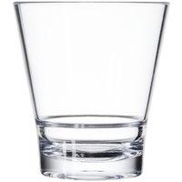 GET S-9-CL Revo 9 oz. Clear SAN Plastic Rocks Glass - 24/Case