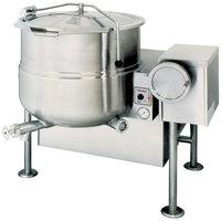 Cleveland KGL-80-T Natural Gas 80 Gallon Tilting 2/3 Steam Jacketed Kettle - 190,000 BTU