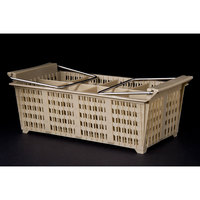 8 Compartment Half Size Flatware Rack with Handles
