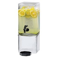 Cal Mil 1112-1A 1.5 Gallon Square Acrylic Beverage Dispenser with Ice Core