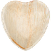 Eco-gecko Sustainable 4 1/2 inch Heart Palm Leaf Plate - 200 / Case
