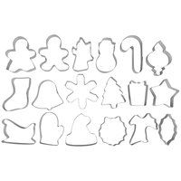 Wilton 2308-1132 18 Piece Stainless Steel Holiday Cookie Cutter Set