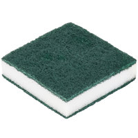 Scrubble By ACS 24-005B 3 1/2 inch x 3 1/2 inch Green Tough-Scour Nylon Soap Pad - 20 / Case