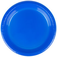 Creative Converting 28314721 9 inch Cobalt Plastic Dinner Plate - 240 / Case
