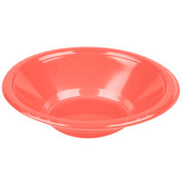 Creative Converting 28314651 12 oz. Coral Plastic Bowl - 240 / Case