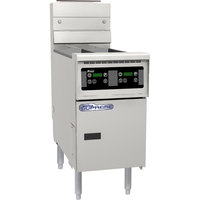 Pitco SSH55-RD Solofilter Solstice Supreme 40-50 lb. Gas Floor Fryer with Digital Controls - 100,000 BTU