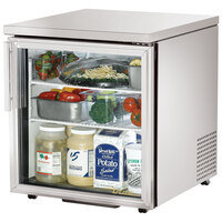 True TUC-27G-LP-LD 27 inch Low Profile Undercounter Refrigerator with Glass Door