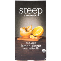 Steep By Bigelow Organic Lemon Ginger Herbal Tea - 20 / Box