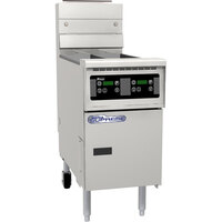 Pitco SSH60R-D Solofilter Solstice Supreme 50-60 lb. Gas Floor Fryer with Digital Controls - 100,000 BTU