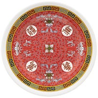 GET M-5090-L Dynasty Longevity 10 1/2 inch Plate - 12/Case