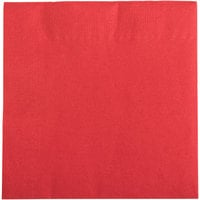 Choice 10 inch x 10 inch Customizable Red 2-Ply Beverage / Cocktail Napkins - 1000 / Case