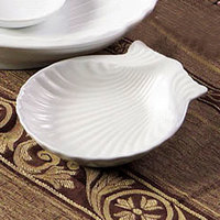 CAC SD-9 Bright White 9 inch China Shell-Shaped Dish 12/Case