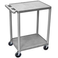 Luxor / H. Wilson HE32-GY Gray 2 Shelf Utility Cart