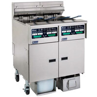 Pitco SELV14C-2/FDA Solstice 60 lb. Reduced Oil Volume / High Output 2 Unit Electric Fryer System with Intellifry Computer Controls and Automatic Top Off - 34 kW