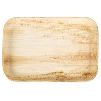 TreeVive by EcoChoice 9 inch x 6 inch Rectangular Palm Leaf Plate - 100/Case