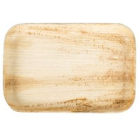 EcoChoice 9 inch x 6 inch Rectangular Palm Leaf Plate - 100/Case