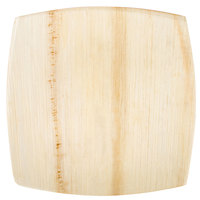 EcoChoice 8 inch Square Coupe Palm Leaf Plate   - 100/Case