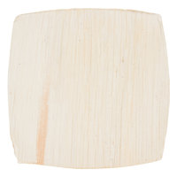 EcoChoice 4 inch Square Coupe Palm Leaf Plate   - 100/Case