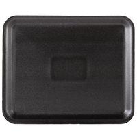 Genpak 1012S (#12S) Black 11 1/4 inch x 9 1/4 inch x 1/2 inch Foam Supermarket Tray - 250/Case