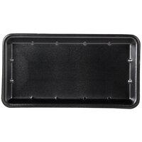 Genpak 1025S (#25S) Black 8 inch x 14 3/4 inch x 1 1/16 inch Foam Supermarket Tray - 250/Case