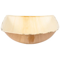 TreeVive by EcoChoice 12 oz. 5 1/2 inch Square Coupe Palm Leaf Bowl - 25/Pack