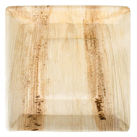 TreeVive by EcoChoice 10 inch Square Angled Palm Leaf Plate - 25/Pack
