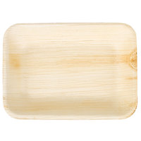 EcoChoice 6 inch x 5 inch Rectangular Palm Leaf Plate   - 25/Pack