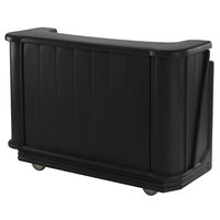 Cambro BAR650PM110 Black Cambar 67 inch Portable Bar with 7-Bottle Speed Rail and Complete Post Mix System