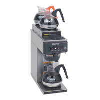 Bunn CWT15 Automatic 12 Cup Coffee Brewer with 2 Upper and 1 Lower Warmer - No Hot Water Faucet 120V (Bunn 12950.0356)