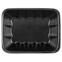 Genpak 1042 (#42) Foam Meat Tray Black 8 5/8 inch x 6 1/2 inch x 2 3/8 inch - 250/Case