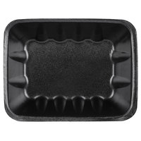 Genpak 1042 (#42) Black 8 5/8 inch x 6 1/2 inch x 2 3/8 inch Foam Supermarket Tray - 250/Case
