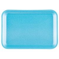 Genpak 1002S (#2S) Blue 8 1/4 inch x 5 3/4 inch x 1/2 inch Foam Supermarket Tray - 125/Pack