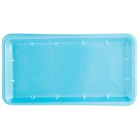 Genpak 1025S (#25S) Blue 8 inch x 14 3/4 inch x 1 1/16 inch Foam Supermarket Tray - 125 / Pack