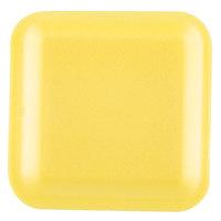 Genpak 1001S (#1S) Yellow 5 1/4 inch x 5 1/4 inch x 1/2 inch Foam Supermarket Tray - 125 / Pack