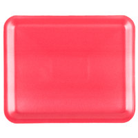 Genpak 1012S (#12S) Rose 11 1/4 inch x 9 1/4 inch x 1/2 inch Foam Supermarket Tray - 125 / Pack