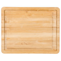 Tablecraft CBW20161L Wood Cutting Board with Well and Non-Slip Legs - 20 inch x 16 inch x 1 inch