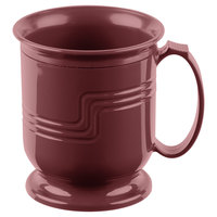 Cambro MDSM8487 Cranberry Insulated 8 oz. Mug - Shoreline Meal Delivery System - 12/Pack
