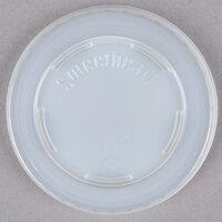 Dart Solo L53-0100 5 oz. Translucent Flat Plastic Lid - 3000 / Case
