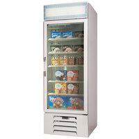 Beverage-Air MMF23-1-W-EL-LED MarketMax 27 inch White One Section Glass Door Merchandiser Freezer with Electronic Lock - 23 cu. ft.